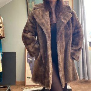 Faux fur coat size medium